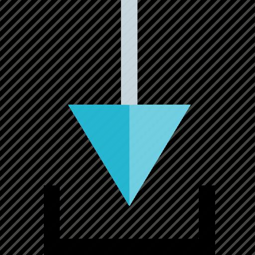 arrow, down, downlaod icon