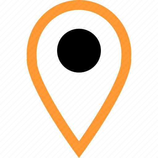 gps, located, pin icon