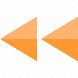 back, left, rewind icon