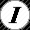 decoration, italics, slant, text icon