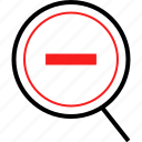 negative, out, sign, zoom icon