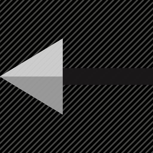 arrow, exit, left, pointer icon