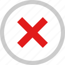 denied, stop, user, x icon