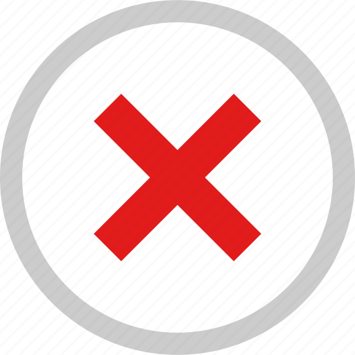 denied, stop, user, x icon
