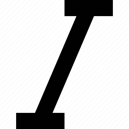 editor, italic, sign, text icon