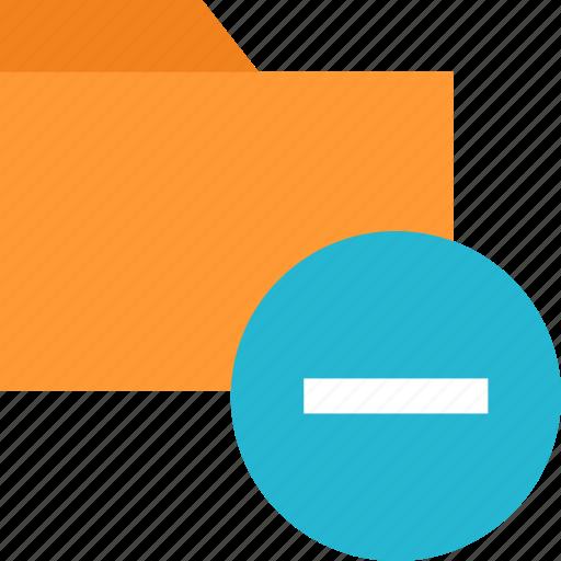 folder, negative, neutral icon