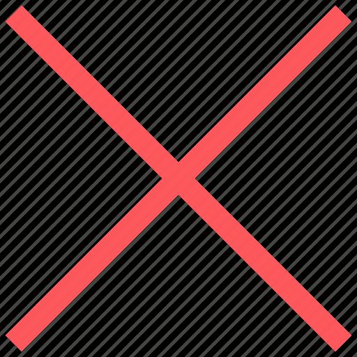 delete, stop, x icon