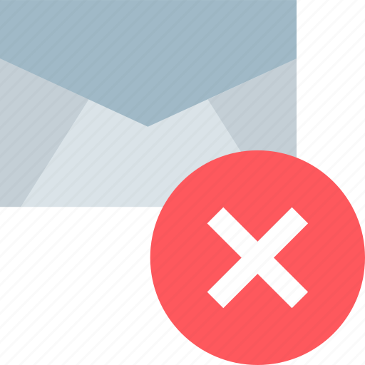 delete, email, mail, x icon
