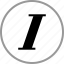 decoration, italic, italics, text icon