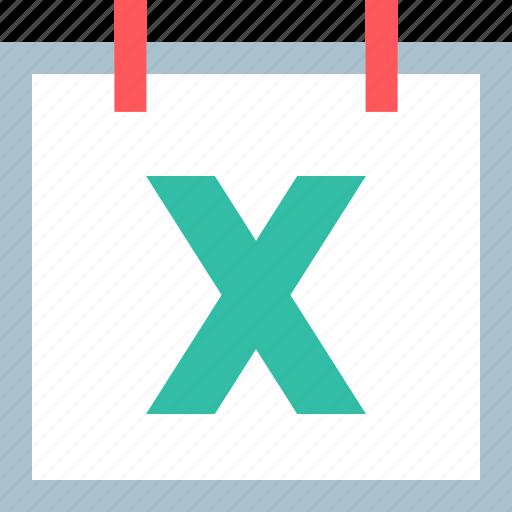calendar, event, x icon
