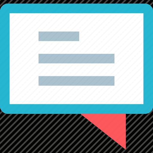 bubble, chat, talk icon