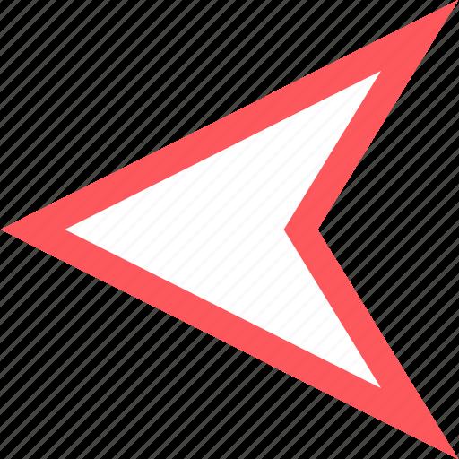 arrow, back, gps, pin icon