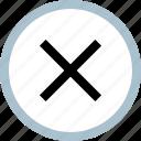 delete, stop, ui, ux, x icon