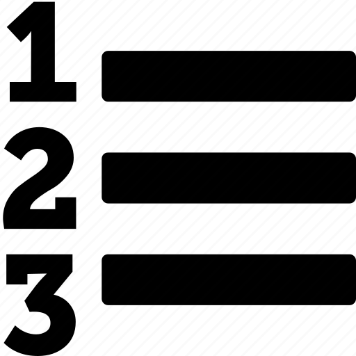 list, ol icon
