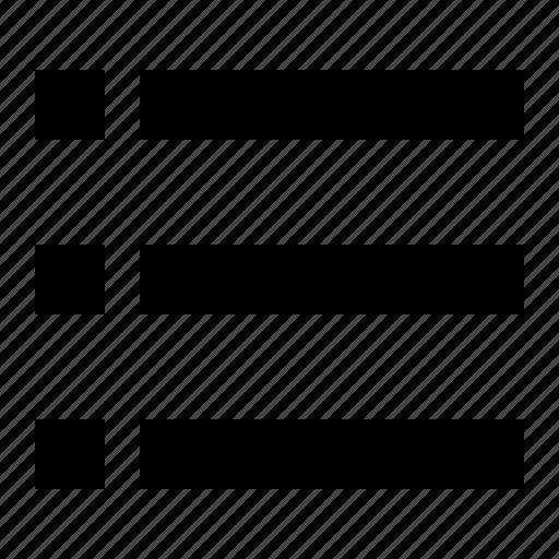 bullet, editor, list, text icon