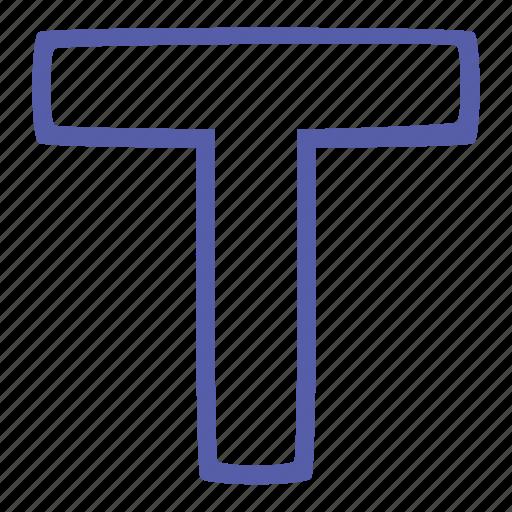 document, t, text, type icon