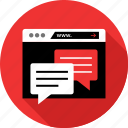 browser, chat, communication, messaging, talk, talking, text icon