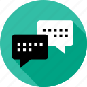 chat, chatting, communication, messaging, talk, talking, text icon