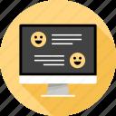 communication, emoji, emotino, faces, messaging, talk, text icon