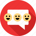 communication, emoji, faces, happy, messaging, talk, text icon