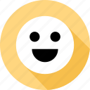 communication, emoji, face, happy, messaging, talk, text icon