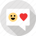 communication, in, love, messaging, talk, text, valentine icon