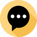 bubble, communication, messaging, sms, talk, text icon