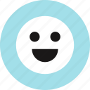 emoji, face, happy, smile icon