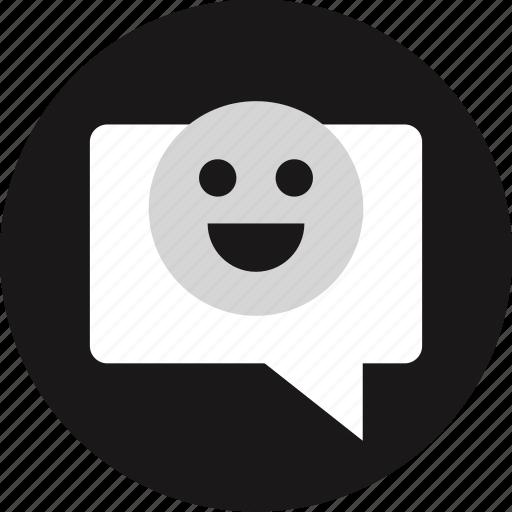bubble, chat, emoji, popup icon