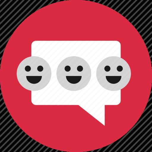 bubble, emojis, smile, smiles icon