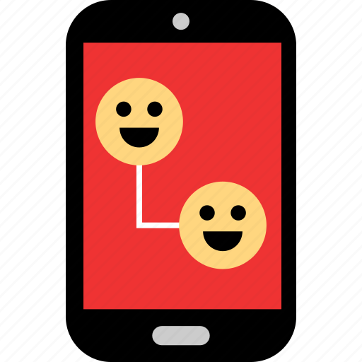 emotion, friends, message, phone, sms, text, texting icon