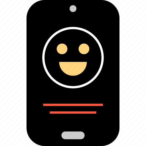 emotion, face, happy, message, phone, sms, text icon
