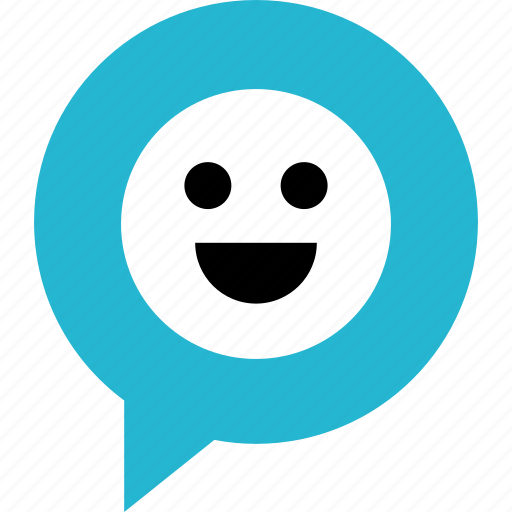 face, happy, message, smile, sms, text icon
