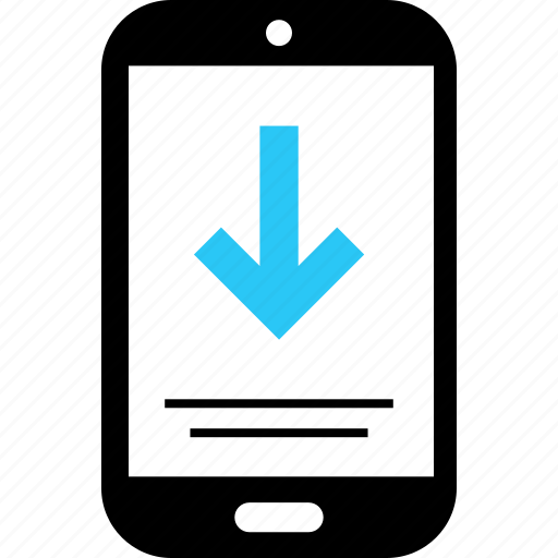 arrow, down, message, point, sms, text icon
