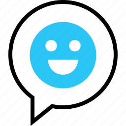 face, happy, message, sms, talking, text icon