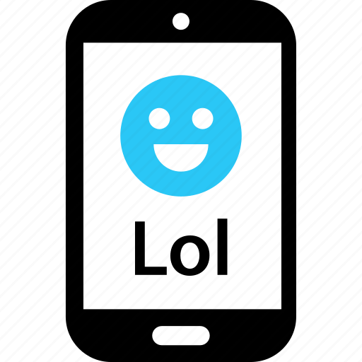 happy, laugh, loud, message, out, sms, text icon
