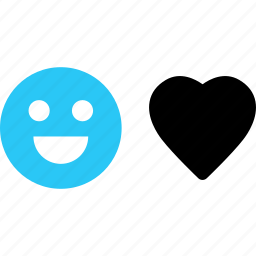 emoji, face, love, message, sms, text icon