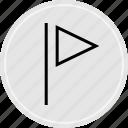 flag, music, play, save icon