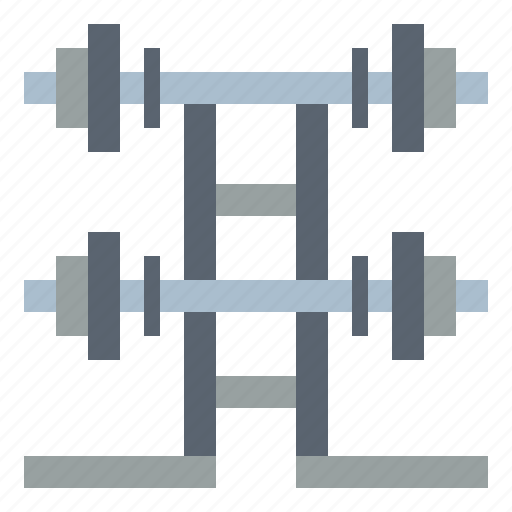 barbell, fitness, gym, weightlifting icon