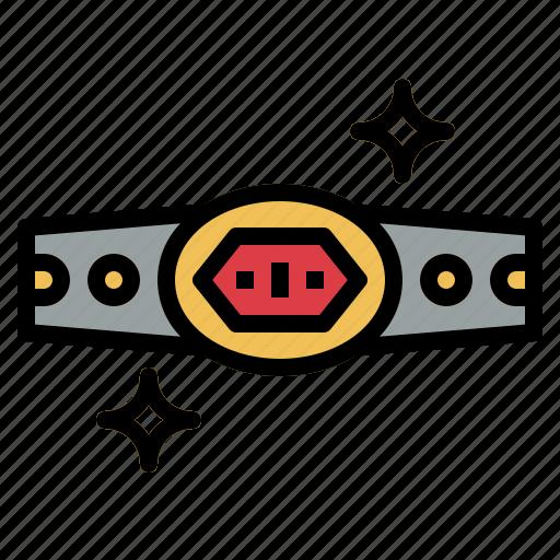 belt, boxing, champion, trophy, winner icon