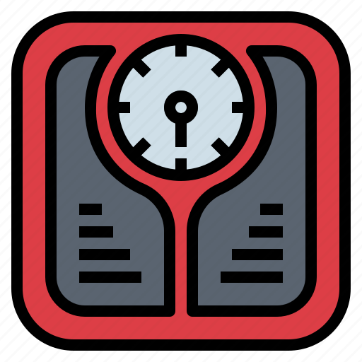 healthcare, scale, tool, weight icon