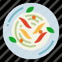 food, fruit, organic, papaya, salad icon