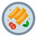 chinese, fast, food, gastronomy, rolls, spring icon