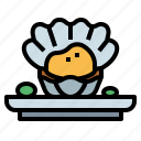 animal, blood, cockles, scallop, shellfish icon