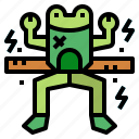 animal, food, frog, grill icon