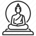 asian, buddha, buddhist, statue, thai, thailand icon