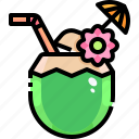 coconut, coconuts, drink, tropical, water