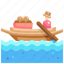 boat, culture, cultures, market, thailand, transportation, water