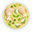 curry, food, gai, kha, soup, thai, tom icon