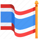 country, flag, flags, nation, thai, thailand, world icon